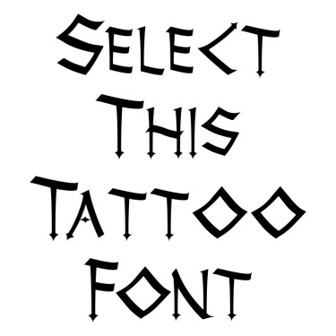 Thor Tattoo Font
