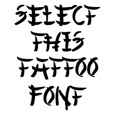 Chinese Asian Style Tattoo Font