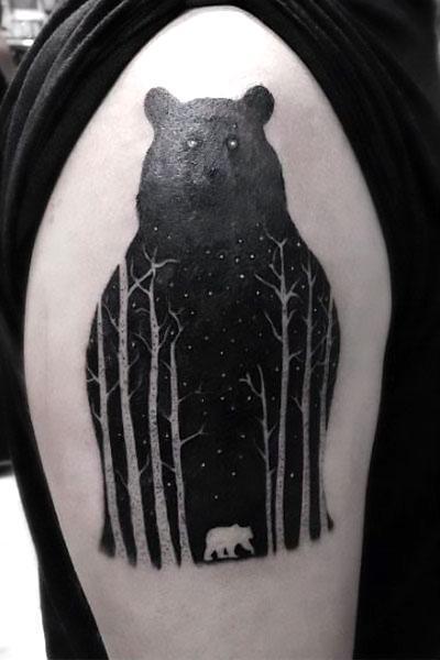 Black Bear Tattoo Idea