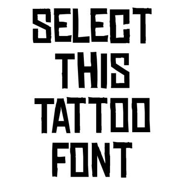 Chinese Rocks Tattoo Font