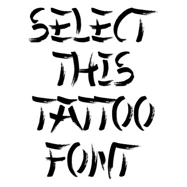 Chinese Takeaway 2 Tattoo Font