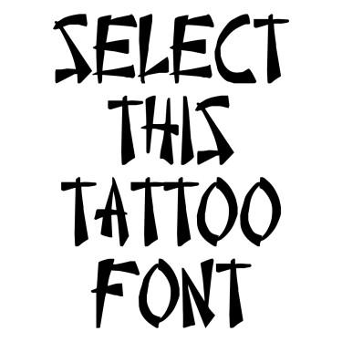 Chinese Takeaway Tattoo Font