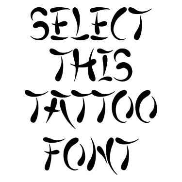 Japanese Style Tattoo Font