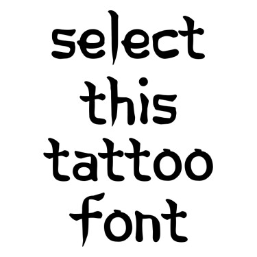 Korean Calligraphy Tattoo Font