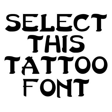 Last Ninja Tattoo Font
