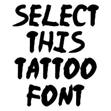 Naruto Tattoo Font