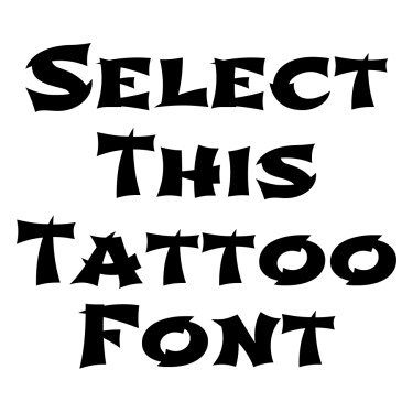 Shojumaru Regular Tattoo Font