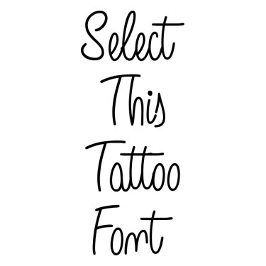 Angelique Rose Tattoo Font