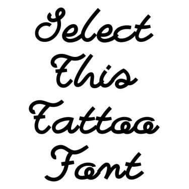 Bastardilla Tattoo Font