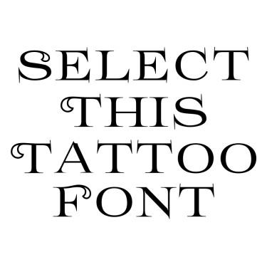 Prida61 Tattoo Font