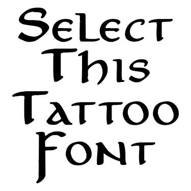Anicb  Tattoo Font