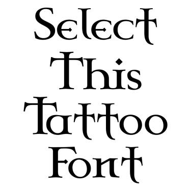 CELTG  Tattoo Font