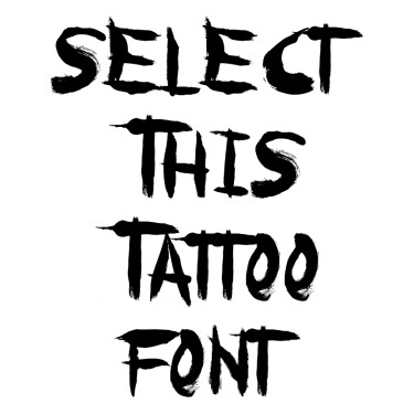 Paranoia Tattoo Font