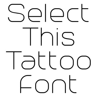 Trench100 Tattoo Font