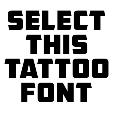 AMCAP Eternal Tattoo Font