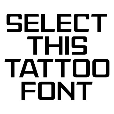 American Captain Patrius Tattoo Font