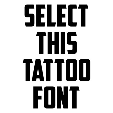 American Captain Tattoo Font