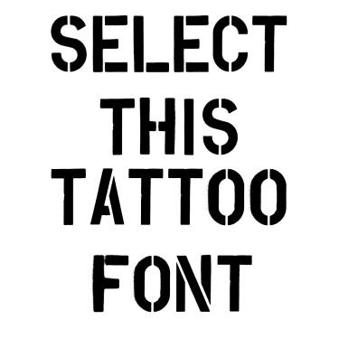 Overspray Tattoo Font