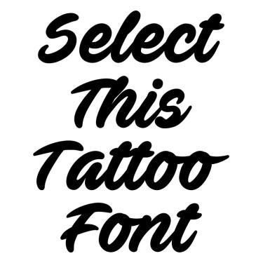 Ave Fedan Tattoo Font