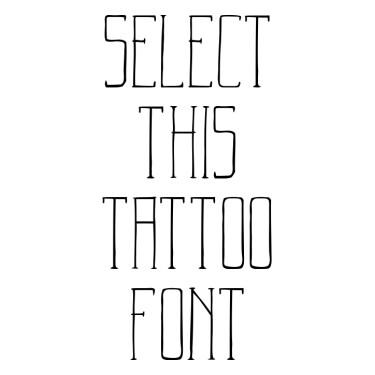 Badass Typography Tattoo Font