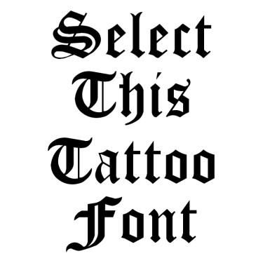 CloisterBlack Tattoo Font