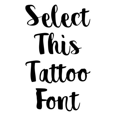 Destain Tattoo Font