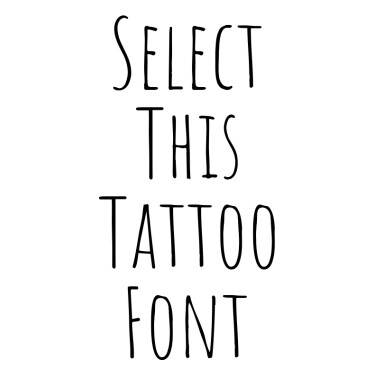 AmaticSC Tattoo Font