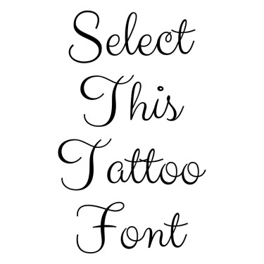 ClickerScript Tattoo Font