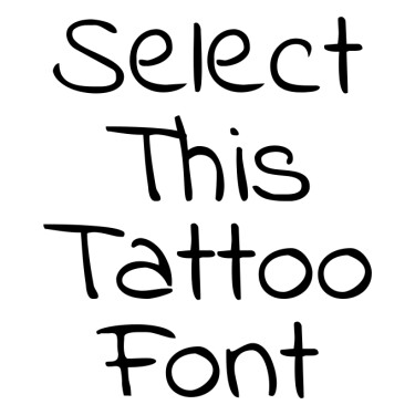 IndieFlower Tattoo Font
