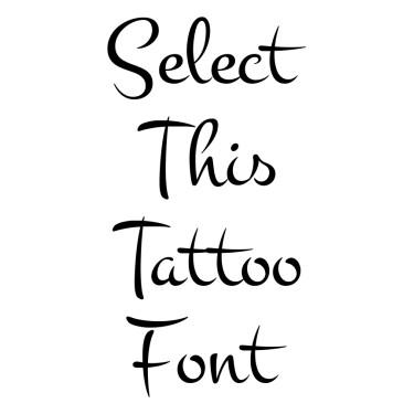 Montez Tattoo Font