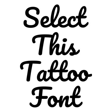 Pacifico Tattoo Font