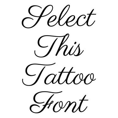 Parisienne Tattoo Font