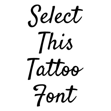 Satisfy Tattoo Font