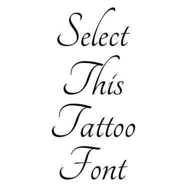 Tangerine Tattoo Font