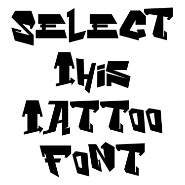 GraffitiMaze Tattoo Font