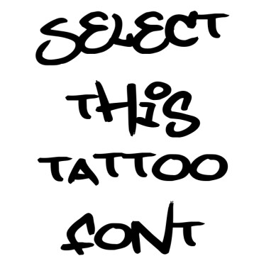 GraffitiTag Tattoo Font