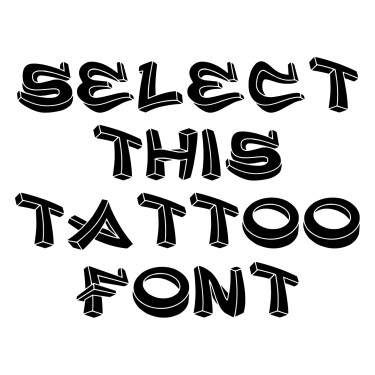 3D Graffiti Tattoo Font