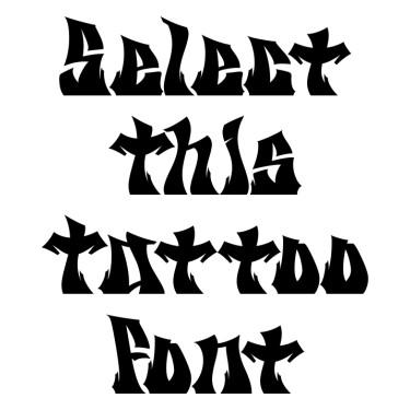 Nigraf Tattoo Font