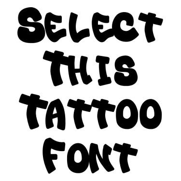 Bulb Tattoo Font