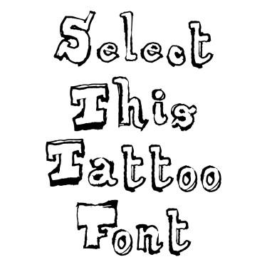 Dirty Tattoo Font