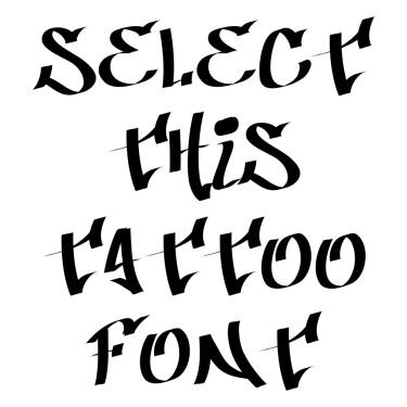 Badass Tattoo Font