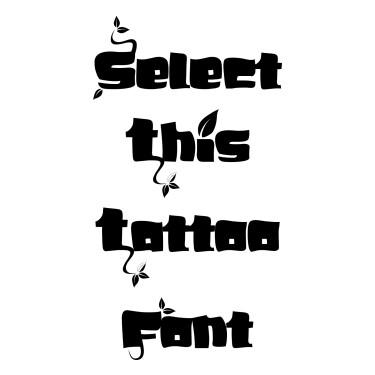 Branch Font Tattoo Font