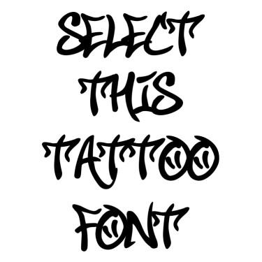 Smile Graffiti Font Tattoo Font