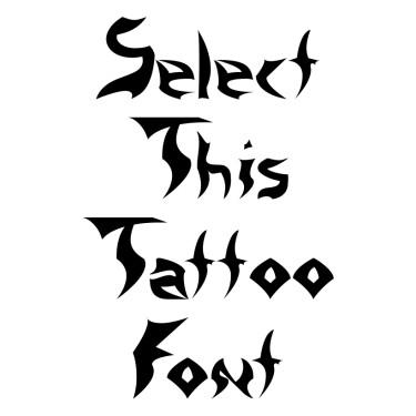 Crystal Tattoo Font