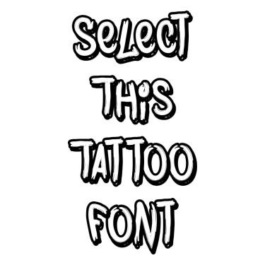 DeadScript Tattoo Font