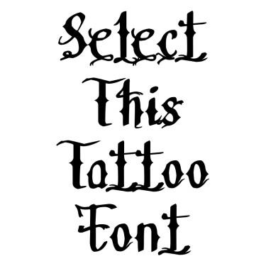 Medieval Font Tattoo Font