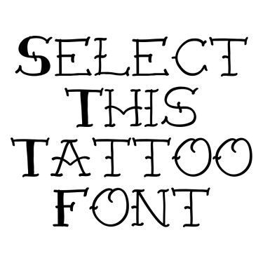 Traditional Old School Tattoo Font