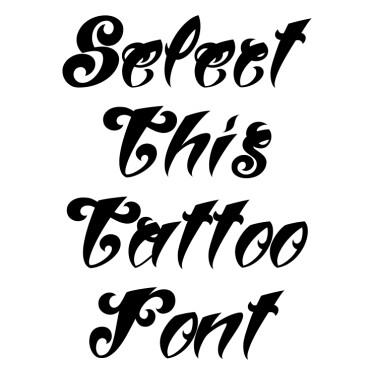 Women Type Tattoo Font