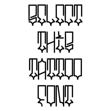 Square Font Tattoo Font