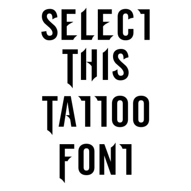 Simply Famous Font Tattoo Font